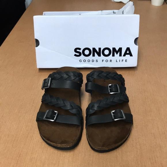 50e6ef5ebb91 Sonoma Leather Clarissa Sandal Women s Sz 11 NWT. M 5ba2c1e67386bc7cb0095027